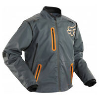 FOX LEGION ENDURO MOTOCROSS MX BIKE JACKET - GREY / ORANGE
