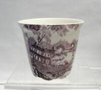 ROYAL STAFFORDSHIRE China, England - TONQUIN / PLUM - CACHEPOT + Indv Creamer