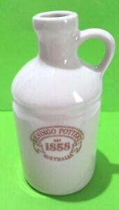 Bendigo Pottery White Jug Oil Dispenser Bottle 250ml 15cm Tall NO POURER Vintage