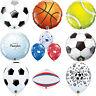 Qualatex Sport Themed Latex & Foil Balloons: Football, Rugby, Golf, Tennis Balls