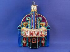 Movie Cinema Theater Old World Christmas Ornament Glass Blown NWT 20072