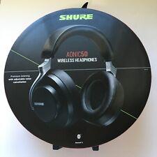 Shure AONIC 50 Wireless Noise Cancelling Headphones, Black #SBH2350-BK