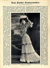 Neue Pariser Sommermoden Maison Redfern Foto-Mode-Report von 1906