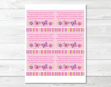Baby Girl Pink Butterfly Printable Baby Shower Book Request Cards