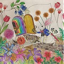 Child Adult Fantasy Dream Alice in Wonderland Inky Treasure Hunt Coloring Book