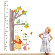Winnie The Pooh Owl Tree Height Measure Growth Chart Wall Sticker Home Decor