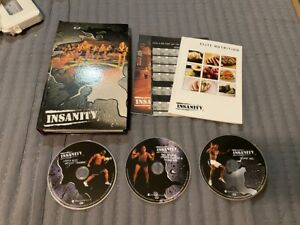 INSANITY 60 DAY TOTAL BODY HOME WORKOUT PROGRAM 13 DISC DVD SET W/ POSTER BOOK