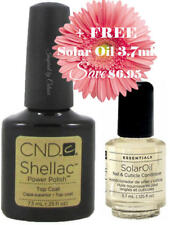 CND SHELLAC Top Coat 7.3ml + FREE Solar Oil 3.7ml (SAVE $6.95)