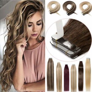 8A Reusable Tape in Remy  Hair Extensions Human Hair Natural Hair 16-26Inch