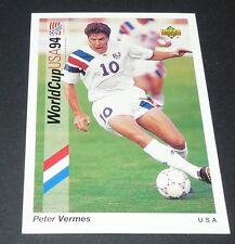 PETER VERMES US SOCCER FOOTBALL CARD UPPER DECK USA 94 PANINI 1994 WM94