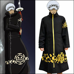 One Piece Trafalgar Law 2 Years Later Robe Cloak Costume for Anime Cosplay Party