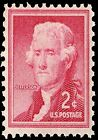 US Postage PHOTO MAGNET Reproduction Jefferson 3rd President 1954 issue 2 cents