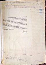 RARE Antique Pay Roll Ledger Atchison Topeka Santa Fe Railway Co. signed book US