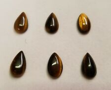 Tiger Eye Pear shape flat back High Quality Cabochon 8mmx14mm
