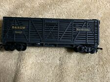 TYCO Railroad D&RGW 40' Stock Car- HO scale by Tyco #312 D LN/BOX BLACK/GOLD