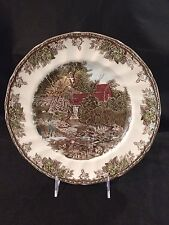 """JOHNSON BROTHERS FRIENDLY VILLAGE 10"""" LG DINNER PLATE THE LILY POND ENGLAND!"""