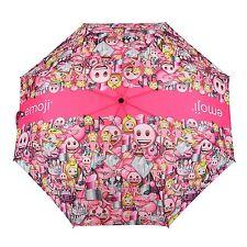 emoji pink umbrella automatic opening and closing.