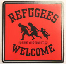 REFUGEES WELCOME ROT PVC AUFKLEBER (MBRPVC024)