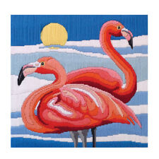 Country Threads Flamingo Long stitch Kit By Spotlight