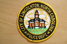 Patches: CITY OF LINCOLNTON NORTH CAROLINA POLICE PATCH (NEW,apx.3.8x3.8)