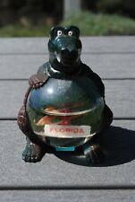Vtg Snow Dome Globe Figural Alligator Teeter Totter Florida Snowdome Snowglobe