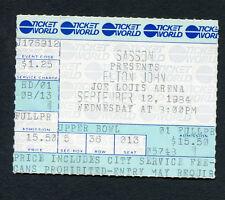 1984 Elton John Concert Ticket Stub Breaking Hearts Tour Detroit Joe Louis Arena