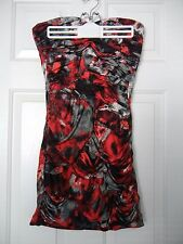 Arden B - Red/Black Strapless Club/Party Tube Dress - M - Stretches to Form Fit
