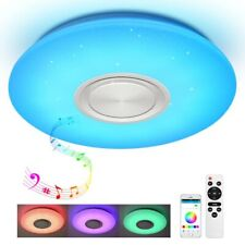 Led Deckenleuchte mit Fernbedienung APP und Bluetooth Lautsprecher RGB Sternen