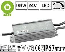 LED Trafo Netzteil DIMMBAR 1-10V, PWM mit PFC 24V 185W Konstantspannung IP67 MM