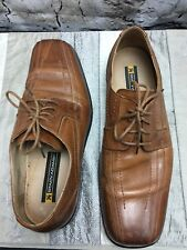 Stacy Adams Corrado Mens Sz 9.5 Brown Leather Oxford  Lace Shoes