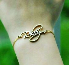 Personalized Gift Bracelete/Necklace with ur Own Name Handcarved in Pure BRASS