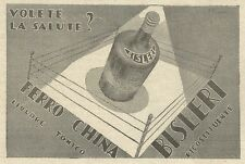 W3690 FERRO CHINA BISLERI - Pubblicità 1938 - Advertising