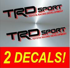 TRD Vinyl Decal Stickers BLACK / RED Toyota Truck Sport Tacoma