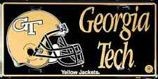 GEORGIA TECH CAR TRUCK TAG LICENSE PLATE METAL GEORGIA TECH YELLOW JACKETS SIGN