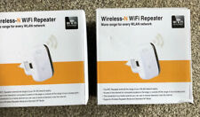 Pair (2x) 300Mbps Wireless Repeater Wifi Blast Range Extender Signal Booster