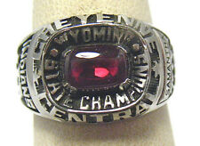 SILVER CHEYENNE CENTERAL WYOMING STATE CHAMPIONS SCHOOL RING 2008 SIZE 6