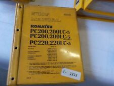 Komatsu PC200, 200LC-5, PC220, PC220LC-5, mighty,  shop manual
