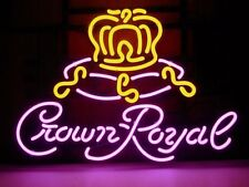 """New Crown Royal Whisky Bar Pub Neon Sign 18""""x14""""  [ FAST SHIPPING]"""