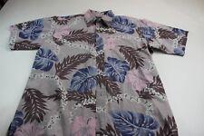 dda228e22 ONO Liberty House Multi-Color Floral Pocket Short Sleeve Button Up Shirt  Large L