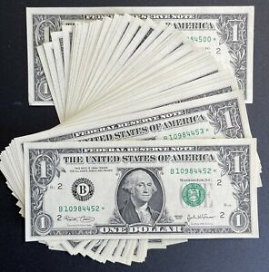 2003 New York $1 Consecutive Star Notes - UNC Lot Of 49 (P933)