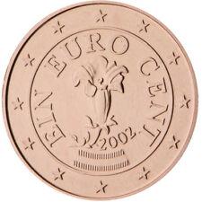 Monnaie 1,2,5 centimes cent cts euro Autriche 2010, neuves du rouleau, UNC