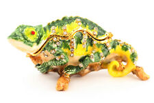 Chameleon Jewelry Trinket Box Decorative Animal Cute Gift Lizard Retile 02029