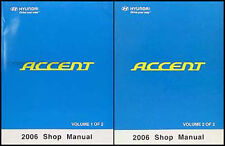 NEW 2006 Hyundai Accent Shop Manual 2 Volume Set Repair Service GL GS GLS GSi