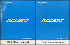 NEW 2006 Hyundai Accent Shop Manual 2 Volume Set Repair Service GL GS GLS GSi