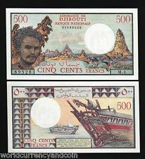 DJIBOUTI 500 FRANCS P36 A 1988 *Without SIGN SHIP UNC RARE AFRICA MONEY BANKNOTE