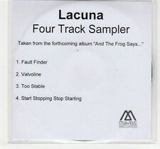(EC729) Lacuna, And The Frog Says 4 track sampler - 2005 DJ CD