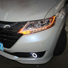 Superb COB CCFL Angel Eyes Halo Foglights Projector Lens For Honda Odyssey 2015