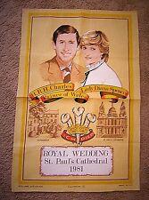 Princess Diana Tea Towel ~ Royal Wedding St. Paul's Cathedral ~ 1981 ~ Causeway