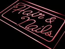 i322-r OPEN Hair & Nails Beauty Salon Neon Light Sign