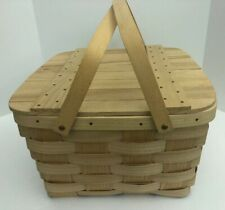 Collectible Basketville Picnic Pie Basket/Beachgoing Gear/Storage Basket New!